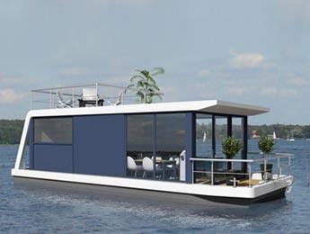 luxus hausboot kaufen nautic living. Black Bedroom Furniture Sets. Home Design Ideas