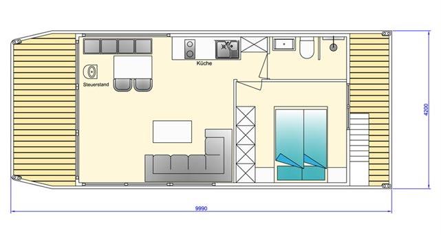 Hausboot Zeichnung